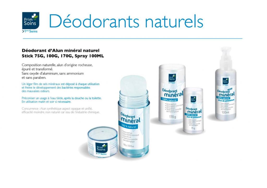 gamme de deodorants alun primsoins