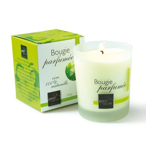 Bougie parfumée équilibrante à la cire 100% naturelle prim'soins-nature